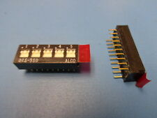 (5) ALCO DTS-5SD AUGAT DTS5SD TE 3-1437583-1 5 POSITION 20 PIN GOLD DIP SWITCH