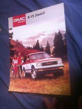 1987 GMC S15 Jimmy Color Brochure Catalog Prospekt