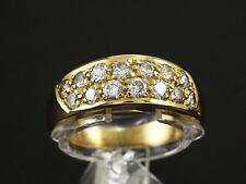 Schöner Brillant Band Ring 0,78ct (Gravur)   6,4g 750/- Gelbgold