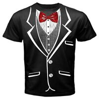 Tuxedo t-shirt, with glitter bow tie