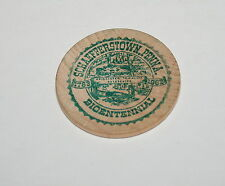 Vintage Wooden Nickel Coin Schafferstown PA Bicentennial 1963 NOS Green ink