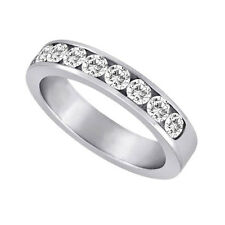 Channel Set Diamond Band 14kt G/H 0.75ct Round