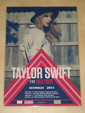 TAYLOR SWIFT - AUSTRALIAN 2013 COUNTER TOUR POSTER - THE RED TOUR - DEC 2013