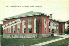 c. 1908 INDIANA, PA, INDIANA UNIVERSITY OF PENNSYLVANIA, LEONARD HALL POSTCARD