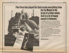 "1973 PAUL HORN ""INSIDE II"" ALBUM PROMO AD"