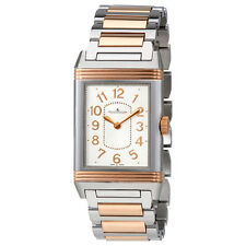 Jaeger LeCoultre Grande Reverso Silver Dial Steel And 18kt Rose Gold Ladies