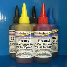 5x100ml Refill Printer Ink Bottles Epson Expression XP 510 520 600 605 Non OEM