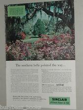 1956 Sinclair Oil advertisement, MAGNOLIA GARDENS, Charleston SC, Live Oak