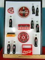 21.  Huge Lot of 14 COCA COLA Soda Pop Refrigerator Magnets Vintage Collectible