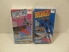 Wings of Silver and Wings of Gold U.S. NAVY and USAF Fighter Planes VHS NEW 2