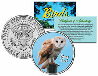 BARN OWL * Collectible Birds * JFK Kennedy Half Dollar Colorized U.S. Coin