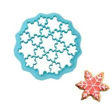 19 Lattice Snowflake Form Plastic Cookie Stamp Biscuit Cutter Cookie Mold f