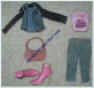 BRATZ MGA DOLL CLOTHING FASHION PACK MODEL BEHAVIOUR : SASHA : 6 PIECES + BOOTS
