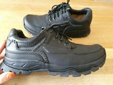 CLARKS ACTIVE AIR BLACK LEATHER SHOES MENS SIZE UK7.5 GENUINE GOOD CONDITION