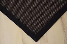 Sisal Teppich Santos mit Bordüre gemustert ebenholz 200x250 cm 100%Sisal schwarz