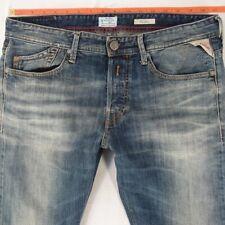 Mens Replay M904 MIJAG Tapered Blue Jeans W33 L32