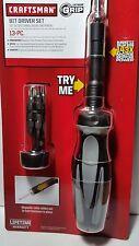 Craftsman Extreme Grip 13 Piece Bit Driver Set Magnetic Collar Ratcheting Ring