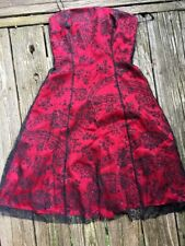 SALE Nearly New ADRIANNA PAPELL BOUTIQUE Brocade Paisley Dress Womens Sz 6 💜b1