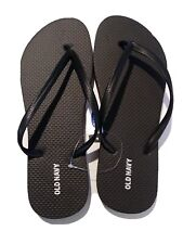 NEW Old Navy Classic Flip Flops Women Sandals Black Size 8