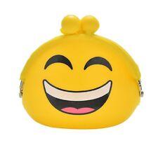 Niedliche Münzbox Geldbeutel Portemonnaie Geldbörse mit witzigen Smiley Emojis
