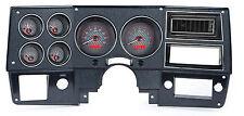 Dakota Digital 1973-87 Chevy GMC Truck Pickup Gauges Carbon/ Red VHX-73C-PU-C-R