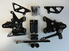 Kawasaki ZX10R  11 12 13 14 15 CNC Alu Fußrastenanlage Rear Set xp schwarz NEU