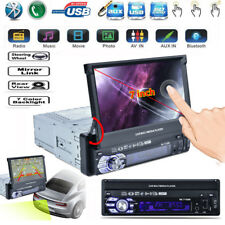 "1DIN 7"" HD Touch Screen Car MP5 Player Bluetooth FM Radio USB/TF/AUX Mirror Link"