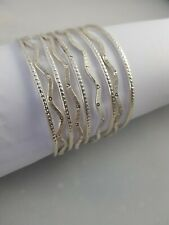 Bollywood Wedding, 925 Silver Curve Stylish  Bangle Women Designer Jewellery