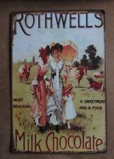 Metallschild Blechschild  Rothwells Milk Chocolate Clayre & Eef Vintage Retro