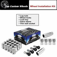 "C1204 Wheel Installation Kit Lug Nuts Locks 1/2"" R.H. fit Ford Mustang 1965-2014"
