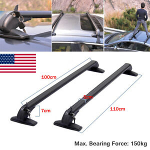 US STOCK Universal Car SUVs Luggage Carrier Roof Rack Crossbar Rails Aluminum