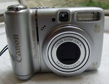 Canon PowerShot A580 8.0MP Digitalkamera-Silber + 4 GB Speicherkarte
