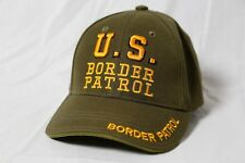 US Border Patrol Adjustable Snapback Green/Yellow Baseball Cap Hat EUC