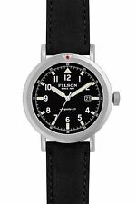 NEW! FILSON SHINOLA Scout Natural Black Leather Band Argonite-715 Men's Watch