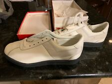 Vintage 1980's PONY Low Top White Leather Basketball Shoes Size 8.5