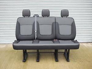 Genuine OEM New Black Triple Bench Seat from Renault Trafic / Vauxhall Vivaro