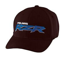 Polaris 2867968 Blue RZR Corp Logo Flexfit Baseball Cap Hat - L/XL Black Large,