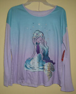Wonder Nation Mermaid 2 Pc Pajamas L/S Pants Girls Size XXL 18  New NWT