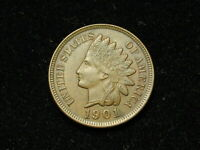 SUMMER SALE!! AU 1901 INDIAN HEAD CENT PENNY w/ FULL LIBERTY & DIAMONDS #74s