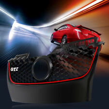 Main Hex Red Trim Upper Mesh Bumper Center Grille For VW GLI/GTI MK5 Jetta 06-09