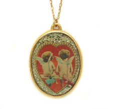 Maximal Art Necklace Valentine's Day Red Heart Cupid Angel John Wind Jewelry