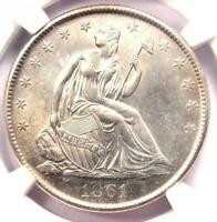 1861-O Seated Liberty Half Dollar 50C Coin - NGC Uncirculated Details (UNC MS)!