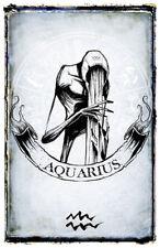 Zodiac Sign Poster Horoscope Art Creepy Black Astrology Stars Print 11x17