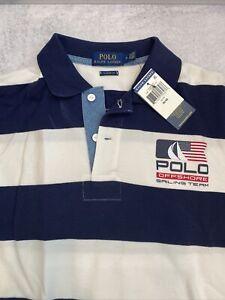 NWT Polo Ralph Lauren P-15 USA Offshore Sailing Team Polo Shirt Striped Mens M