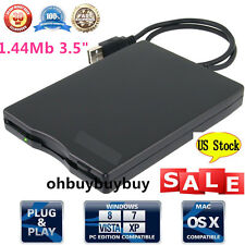 """3.5"""" USB 2.0 1.44MB External Portable Floppy Disk Diskette Drive for Laptop OUB"""