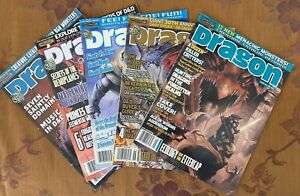 LOT OF 5 VINTAGE OFFICIAL DUNGEONS & DRAGONS MAGAZINES 343 344 345 353 355 EXC!!