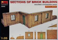 Miniart 1:35 Sections of Brick Building Plastic Diorama Kit #35552U