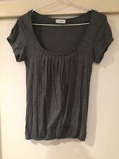 Kookai Ladies Grey Blouse Top Size 1 Good Condition
