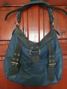 Ladies Fushia Paris Leather And Suede Grab/hobo Shoulder Bag