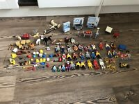 VINTAGE PLAYMOBIL / GEOBRA FIGURES 1974 + VICTORIAN FURNITURE ACCESSORIES BUNDLE